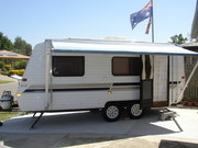 Evenew caravan and Jackaroo complete outfit ready to go